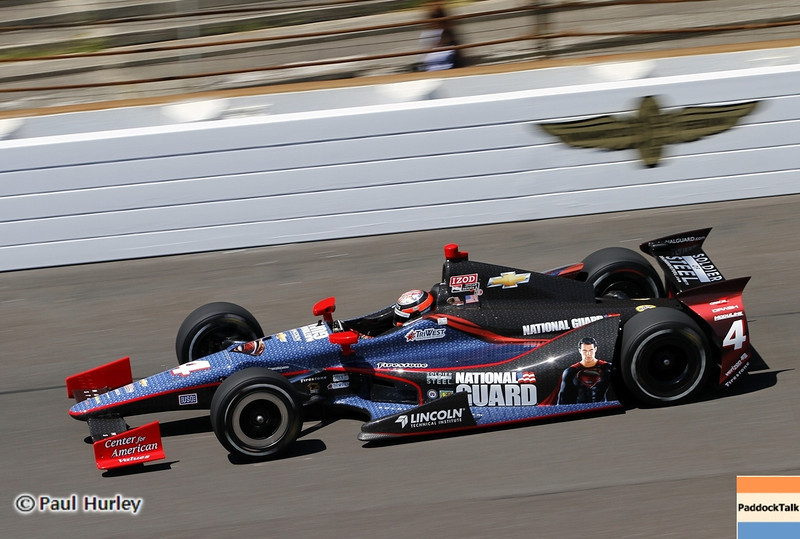 May 14: J.R. Hildebrand during practice for the 97 Indianapolis 500 at the Indianapolis Motor Speedway.
