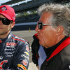 May13: Marco Andretti and Mario Andretti during practice for the 97th Indianapolis 500 at the Indianapolis Motor Speedway.