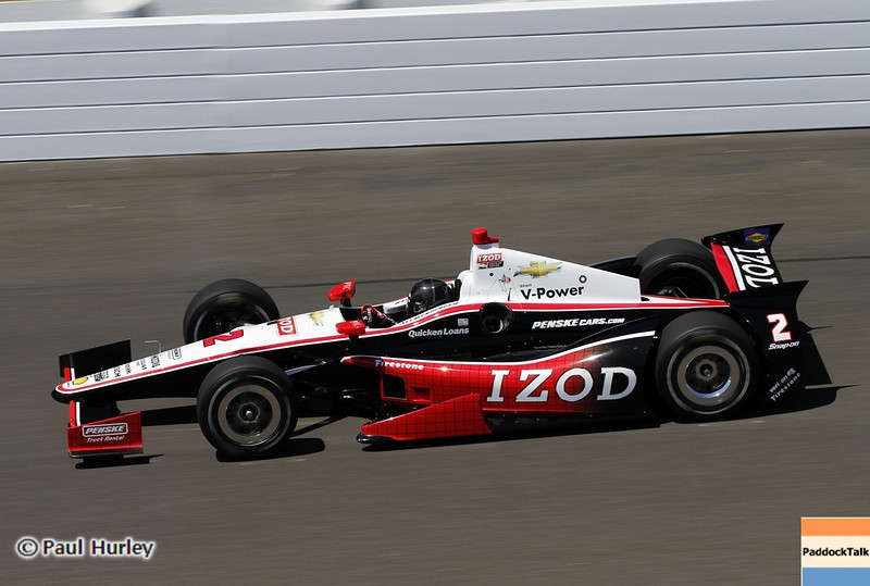 May 14: A.J. Allmendinger during practice for the 97 Indianapolis 500 at the Indianapolis Motor Speedway.