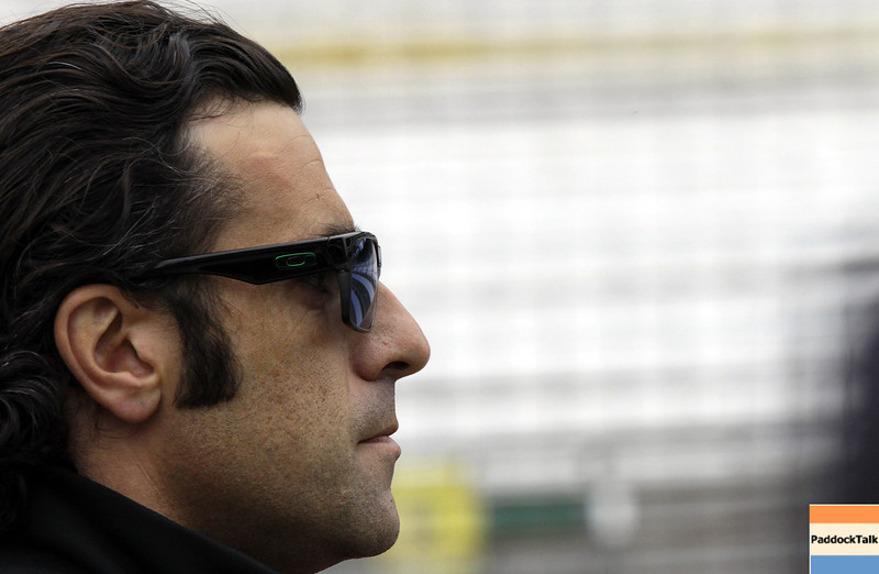 May 11: Dario Franchitti during practice for the 97th Indianapolis 500 at the Indianapolis Motor Speedway.