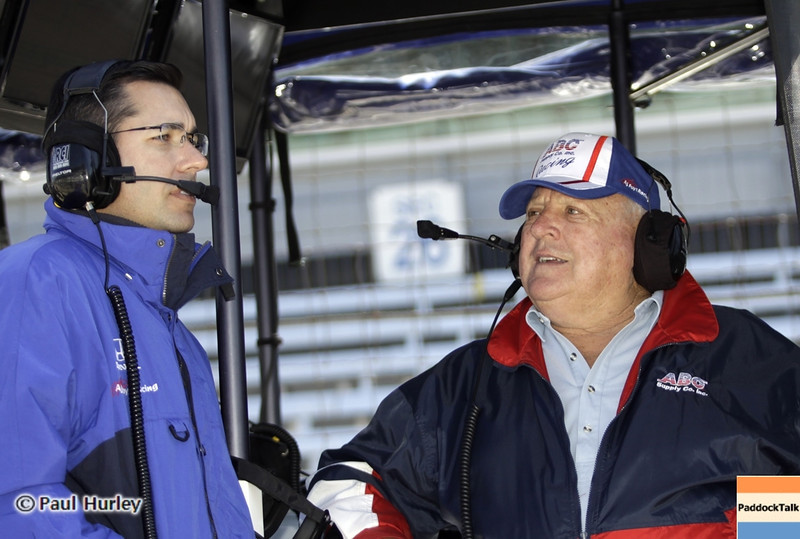 May13: Larry and A.J. Foyt during practice for the 97th Indianapolis 500 at the Indianapolis Motor Speedway.