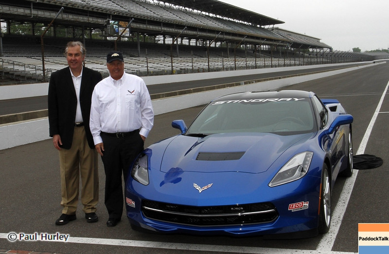 May 11: Corvette Pace Car during practice for the 97th Indianapolis 500 at the Indianapolis Motor Speedway.