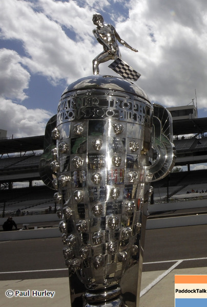 May 12: Borg Warner Trophy during practice for the 97th Indianapolis 500 at the Indianapolis Motor Speedway.