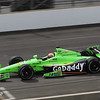 May 15: James Hinchcliffe during practice for the 97th Indianapolis 500 at the Indianapolis Motor Speedway.
