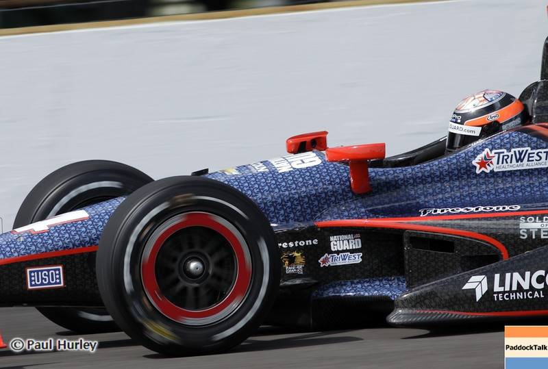 May 12: J.R. Hildebrand during practice for the 97th Indianapolis 500 at the Indianapolis Motor Speedway.