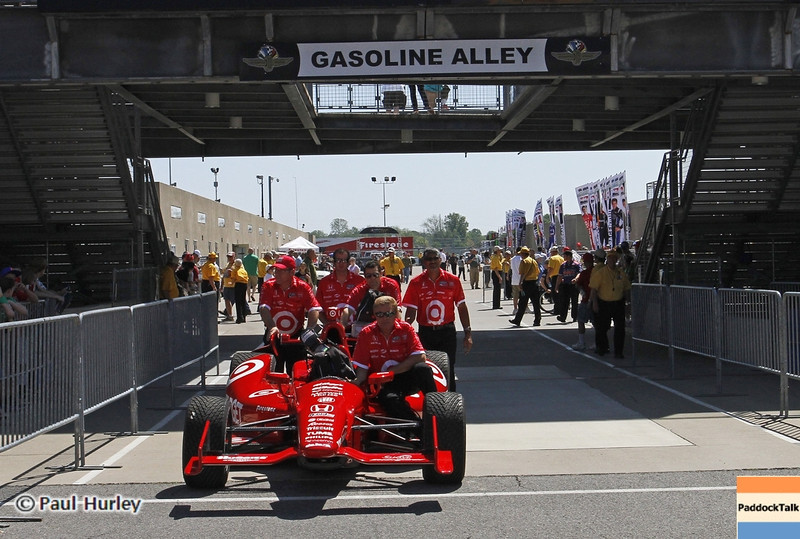 May 15: Gasoline Alley during practice for the 97th Indianapolis 500 at the Indianapolis Motor Speedway.