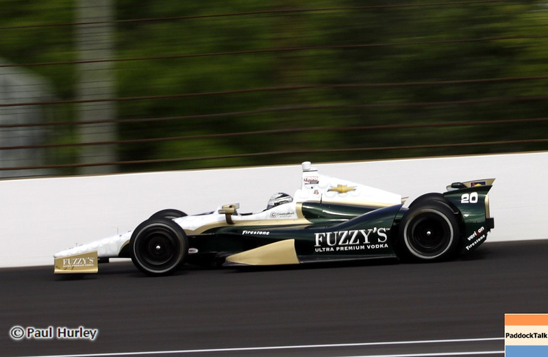 May 11: Ed Carpenter during practice for the 97th Indianapolis 500 at the Indianapolis Motor Speedway.
