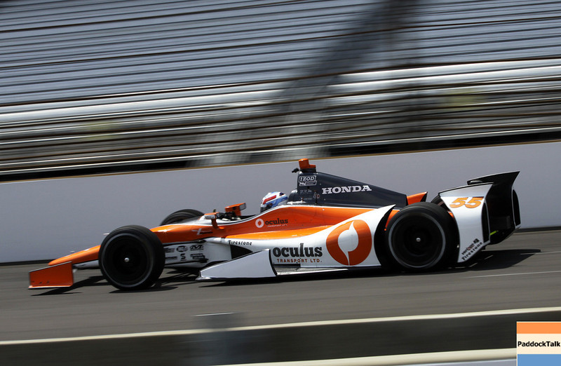 May 11: Tristan Vautier during practice for the 97th Indianapolis 500 at the Indianapolis Motor Speedway.