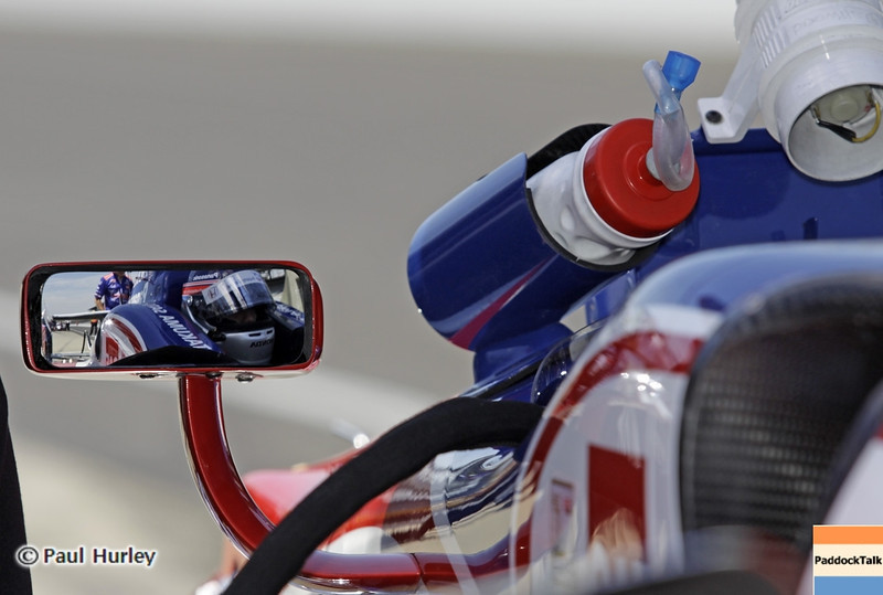 May 15: Takuma Sato during practice for the 97th Indianapolis 500 at the Indianapolis Motor Speedway.