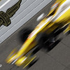 May13: Wing and Wheels logo during practice for the 97th Indianapolis 500 at the Indianapolis Motor Speedway.