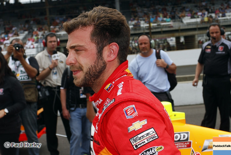 May 18: E.J. Viso during qualifications for the 97th Indianapolis 500 at the Indianapolis Motor Speedway.