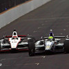 May 18: Tony Kanaan and Will Power during qualifications for the 97th Indianapolis 500 at the Indianapolis Motor Speedway.
