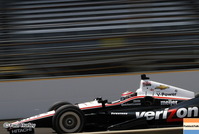 May 19: Will Power during qualifications for the 97th Indianapolis 500 at the Indianapolis Motor Speedway.