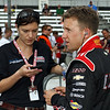 May 18: Katherine Legge and A.J. Allmendinger during qualifications for the 97th Indianapolis 500 at the Indianapolis Motor Speedway.