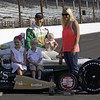 May 19: Ed Carpenter and family during qualifications for the 97th Indianapolis 500 at the Indianapolis Motor Speedway.