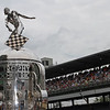 May 18: The Borg Warner trophy during qualifications for the 97th Indianapolis 500 at the Indianapolis Motor Speedway.