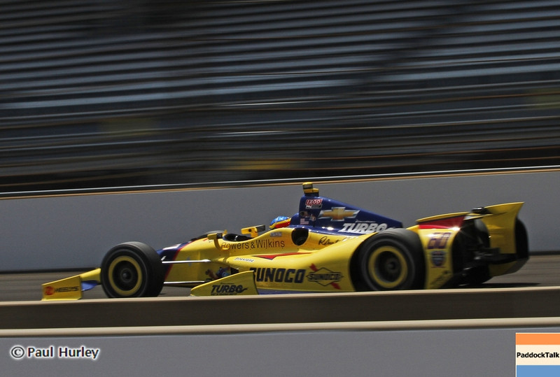 May 19:Townsend Bell  during qualifications for the 97th Indianapolis 500 at the Indianapolis Motor Speedway.