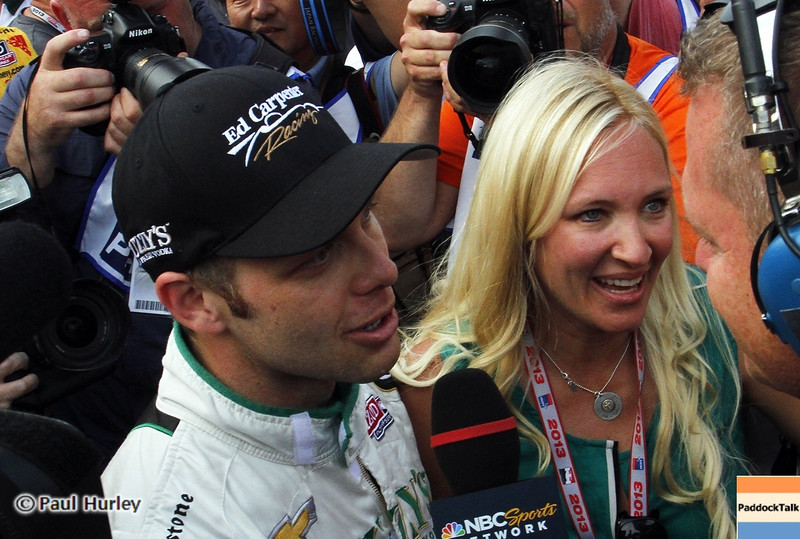 May 18: Ed and Heather Carpenter during qualifications for the 97th Indianapolis 500 at the Indianapolis Motor Speedway.