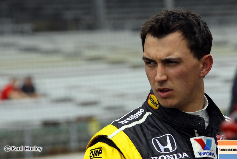 May 18: Graham Rahal  during qualifications for the 97th Indianapolis 500 at the Indianapolis Motor Speedway.