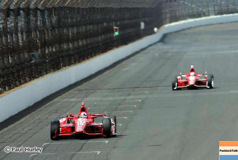 May 19: Dario Franchitti during qualifications for the 97th Indianapolis 500 at the Indianapolis Motor Speedway.
