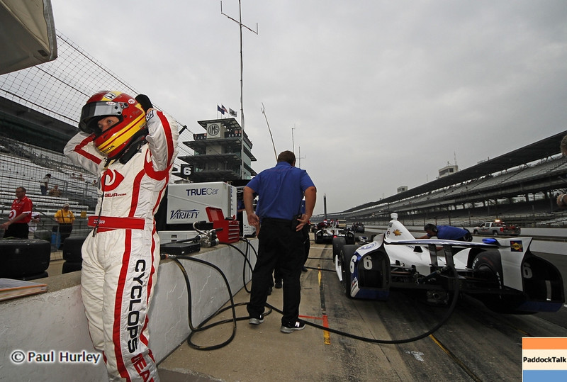 May 18: Pippa Mann during qualifications for the 97th Indianapolis 500 at the Indianapolis Motor Speedway.