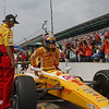 May 18: Ryan Hunter-Reay during qualifications for the 97th Indianapolis 500 at the Indianapolis Motor Speedway.