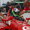 May 18: Dario Franchitti during qualifications for the 97th Indianapolis 500 at the Indianapolis Motor Speedway.
