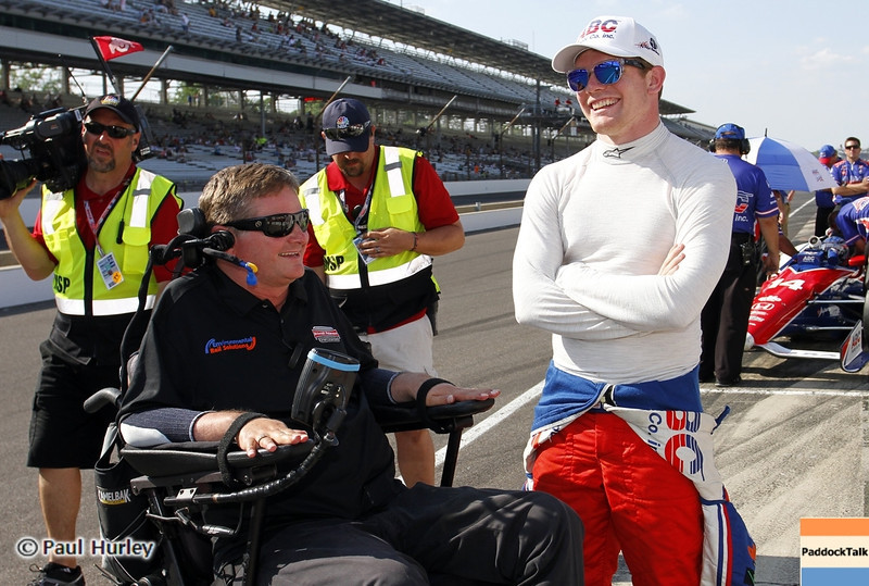 May 19: Sam Schmidt and Conor Dailey during qualifications for the 97th Indianapolis 500 at the Indianapolis Motor Speedway.