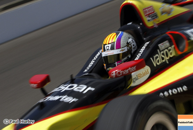 May 19: Oriol Servia during qualifications for the 97th Indianapolis 500 at the Indianapolis Motor Speedway.