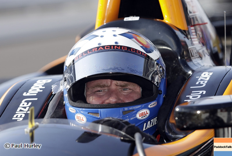 May 19: Buddy Lazier during qualifications for the 97th Indianapolis 500 at the Indianapolis Motor Speedway.