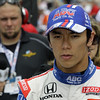 May 18: Takuma Sato during qualifications for the 97th Indianapolis 500 at the Indianapolis Motor Speedway.