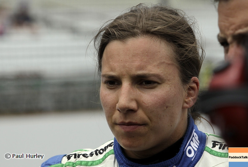 May 18: Simona de Silvestro during qualifications for the 97th Indianapolis 500 at the Indianapolis Motor Speedway.