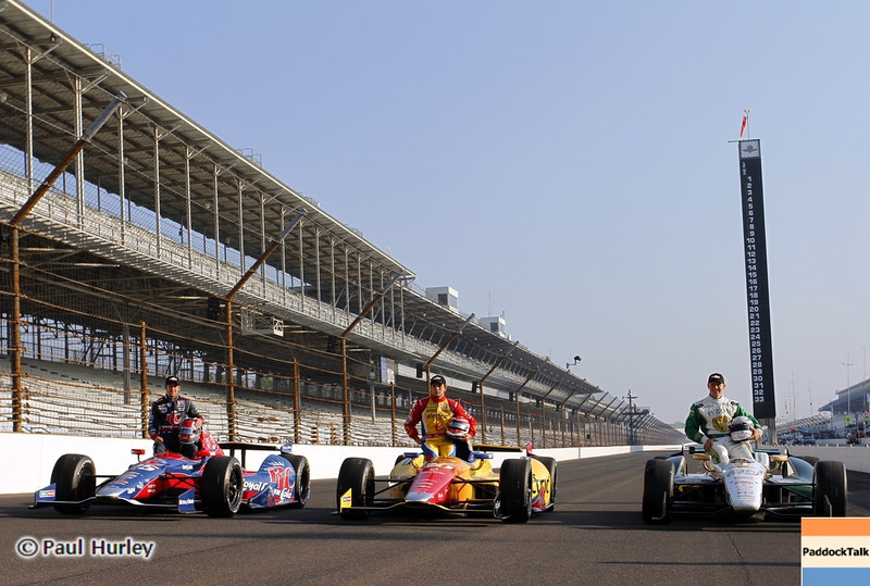 May 19: The front row during qualifications for the 97th Indianapolis 500 at the Indianapolis Motor Speedway.