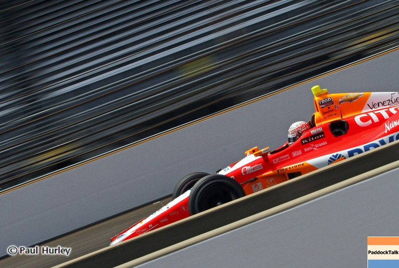 May 19: E.J. Viso during qualifications for the 97th Indianapolis 500 at the Indianapolis Motor Speedway.