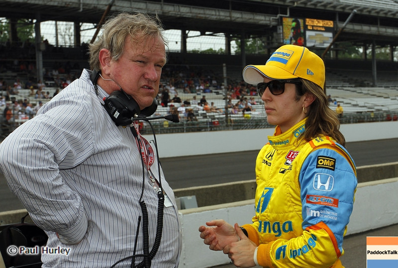 May 18: Dale Coyne and Ana Beatriz during qualifications for the 97th Indianapolis 500 at the Indianapolis Motor Speedway.