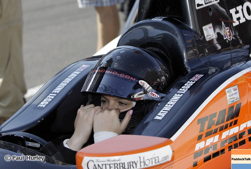 May 19: Katherine Legge during qualifications for the 97th Indianapolis 500 at the Indianapolis Motor Speedway.