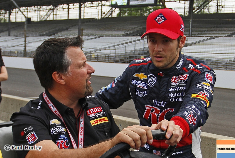 May 18: Michael and Marco Andretti during qualifications for the 97th Indianapolis 500 at the Indianapolis Motor Speedway.