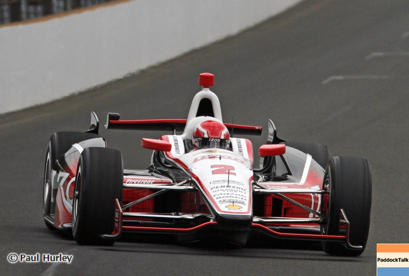May 18: A.J. Allmendinger during qualifications for the 97th Indianapolis 500 at the Indianapolis Motor Speedway.