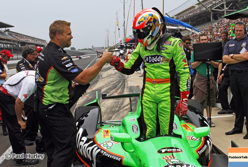 May 18: James Hinchcliffe during qualifications for the 97th Indianapolis 500 at the Indianapolis Motor Speedway.