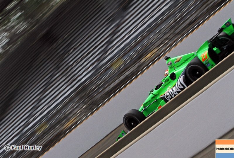 May 19: James Hinchcliffe during qualifications for the 97th Indianapolis 500 at the Indianapolis Motor Speedway.