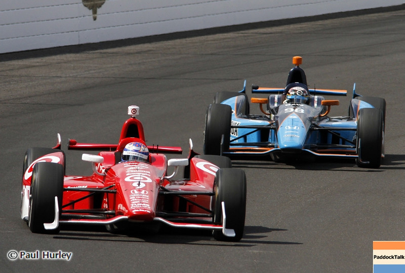 May 19: Scott Dixon and Alex Tagliani during qualifications for the 97th Indianapolis 500 at the Indianapolis Motor Speedway.
