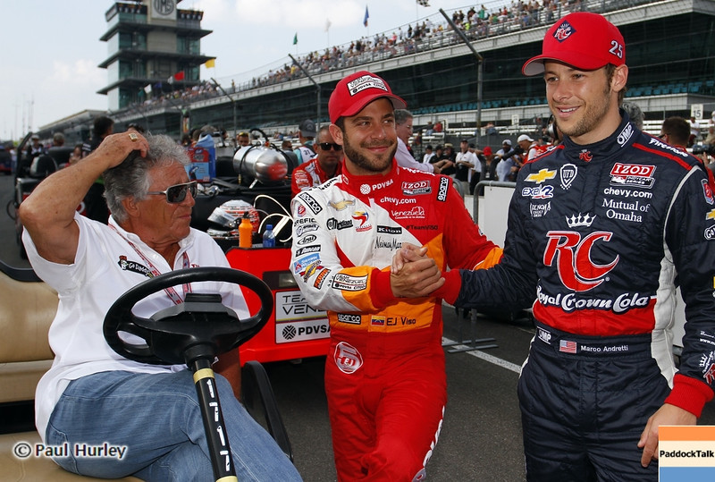 May 18: Maro, Marco Andretti and E.J. Viso during qualifications for the 97th Indianapolis 500 at the Indianapolis Motor Speedway.