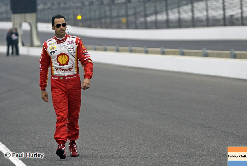 May 18: Helio Castroneves during qualifications for the 97th Indianapolis 500 at the Indianapolis Motor Speedway.