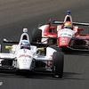 May 19: Tristan Vautier and Justin Wilson during qualifications for the 97th Indianapolis 500 at the Indianapolis Motor Speedway.