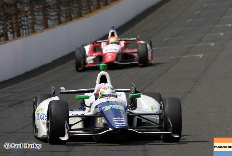 May 19: Simona de Silvestro during qualifications for the 97th Indianapolis 500 at the Indianapolis Motor Speedway.