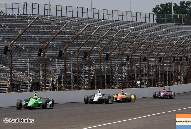 May 19: Main straight during qualifications for the 97th Indianapolis 500 at the Indianapolis Motor Speedway.