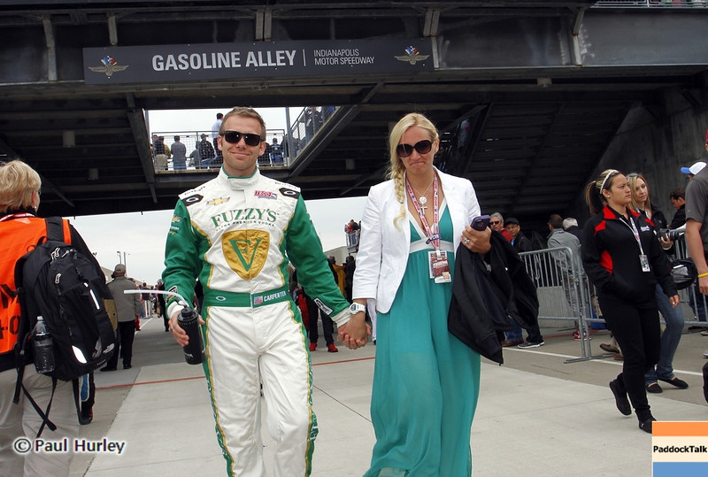 May 26: Ed Carpenter during the 97th running of the Indianapolis 500 mile race.