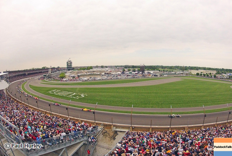 May 26: Turn 1 during the 97th running of the Indianapolis 500 mile race.