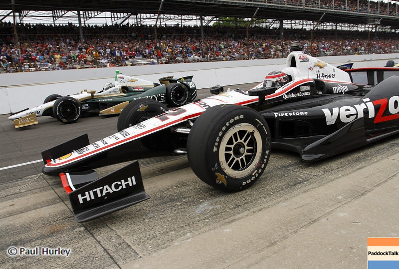 May 26: Will Power during the 97th running of the Indianapolis 500 mile race.
