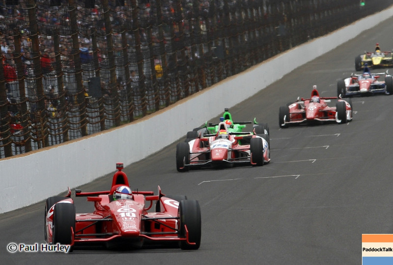 May 26: Dario Franchitti during the 97th running of the Indianapolis 500 mile race.
